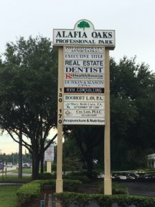 Alafia Oaks Sign NEW