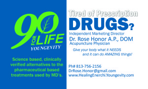 Dr Rose Youngevity Business Card front